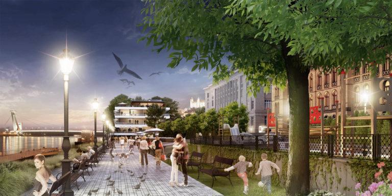 Prístav a Promenáda Bratislava – DF CREATIVE GROUP – Architekti Zuzana Zacharová a Martin Paško
